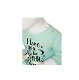 "Baby pyjama ""To the Moon"" M3000 Mint_"