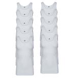 10-Pack Heren singlets 2x2 rib Startex Wit