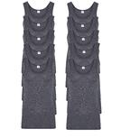 10-Pack Heren singlets M55 Antraciet