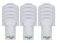 15-Pack Extra lange heren T-shirts O-Hals M3000 Wit