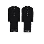 10-Pack Extra lange heren T-shirts O-Hals M3000 Zwart