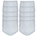 10-Pack Heren slips met gulp 2x2 rib Startex Wit