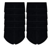 10-Pack Heren slips met gulp M3000 Zwart