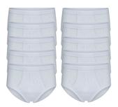 10-Pack Heren slips met gulp M3000 Wit