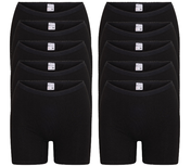 10-Pack Dames boxershorts Softly met lange pijp Zwart