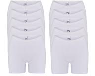 10-Pack Dames boxershorts Softly met lange pijp Wit