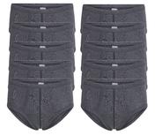10-Pack Heren slips met gulp M55 Antraciet