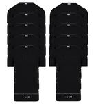 10-Pack Extra lange heren T-shirts V-Hals M3000 Zwart