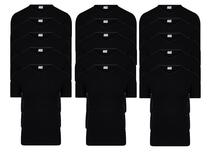 15-Pack Heren T-shirts V-Hals M3000 Zwart
