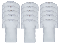 15-Pack Heren T-shirts V-Hals M3000 Wit