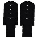 10-Pack Heren T-shirts V-Hals M3000 Zwart