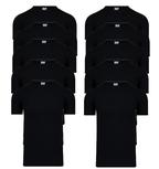 10-Pack Heren T-shirts O-Hals M3000 Zwart