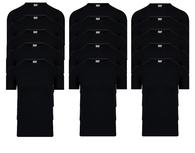 15-Pack Heren T-shirts O-Hals M3000 Zwart