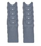 10-Pack Heren singlets M3000 Grijs