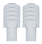10-Pack Heren T-shirts O-Hals M3000 Wit