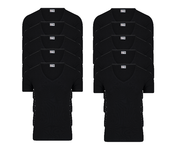 10-Pack Heren T-shirts Diepe V-Hals M3000 Zwart