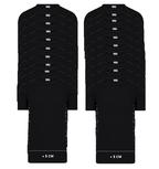 20-Pack Extra lange heren T-shirts O-Hals M3000 Zwart