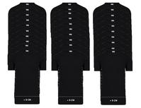 30-Pack Extra lange heren T-shirts O-Hals M3000 Zwart