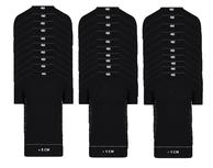 30-Pack Extra lange heren T-shirts V-Hals M3000 Zwart