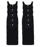 10-Pack Dames hemden Viola M3000 Zwart