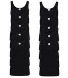 10-Pack Dames hemden Madonna M3000 Zwart