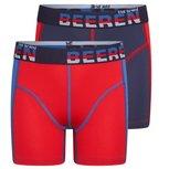 2-Pack Jongens boxershorts Mix&Match Blauw/Rood