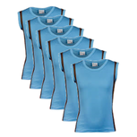 6-Pack Jongens mouwloos shirt B.Y. Sjors