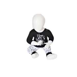 """Baby pyjama """"To the Moon"""" M3000 Zwart"""